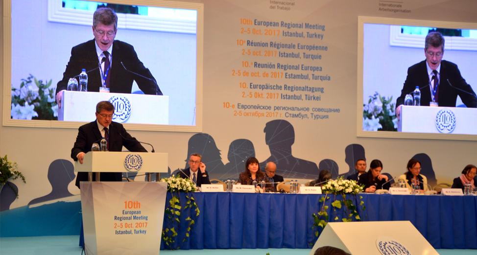 10. ILO AVRUPA BÖLGE KONFERANSI İSTANBUL'DA YAPILDI: YÜZYIL İÇİN İSTANBUL GİRİŞİMİ KABUL EDİLDİ
