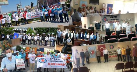 TÜRK-İŞ 81 İLDE BASIN AÇIKLAMALARI DÜZENLEDİ