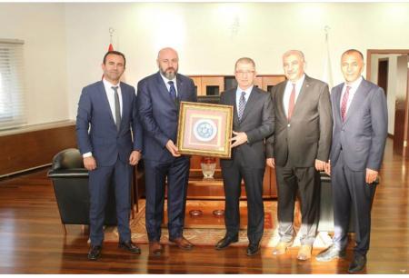 TES-İŞ Heyeti KCTAŞ Genel Müdürü  Dr. Hidayet Atasoy'u Makamında Ziyaret Etti